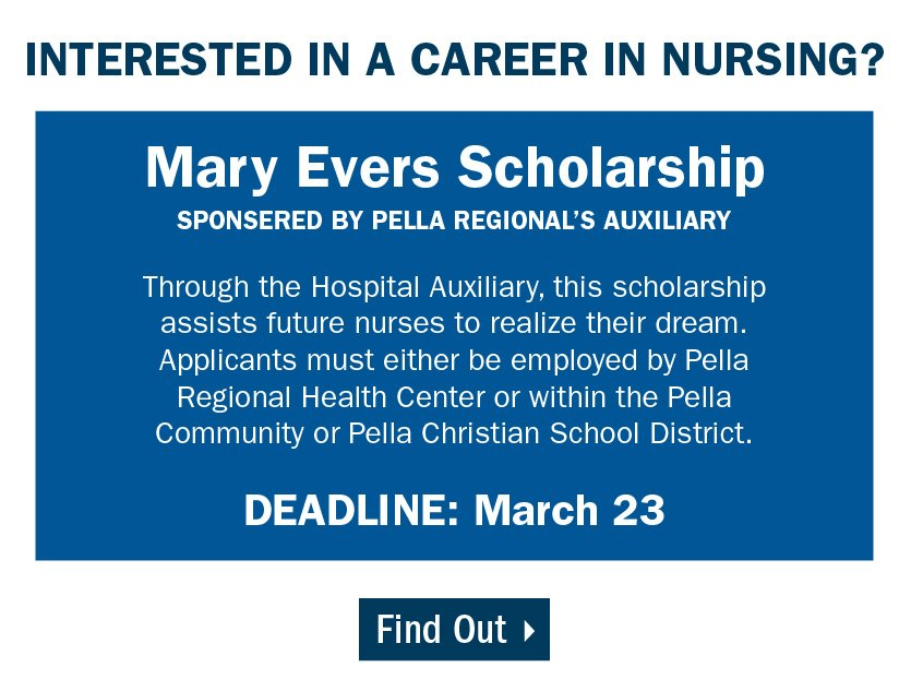 Apply for the Mary Evers Scholarship if you have an interest in a career in nursing