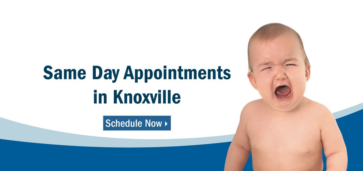 We now offer same day appointments in Knoxville