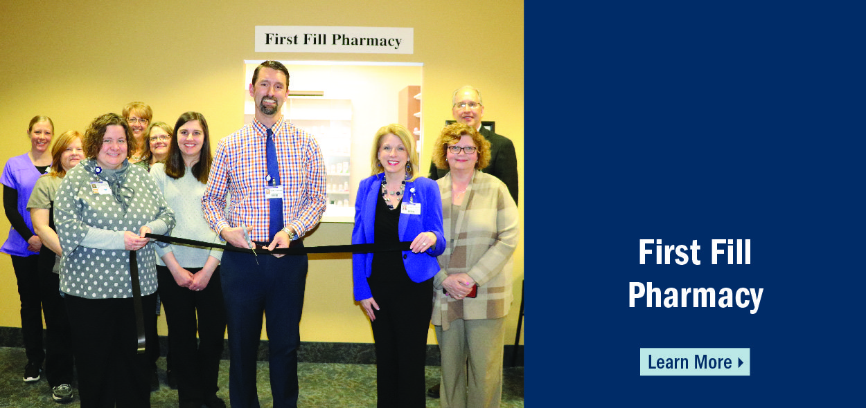Pella Regional now has a first fill pharmacy in the Pella Medical Clinic!