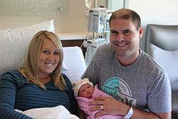 Karl and Kristin Boender with daughter Sydnie Noelle