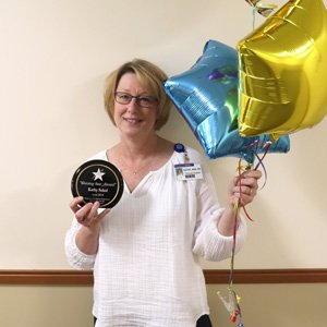 Kathy Sokol is April's Shining Star winner