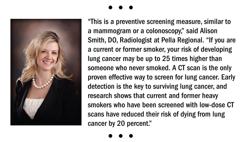 Dr. Smith's quote on why early detection of lung cancer is key.