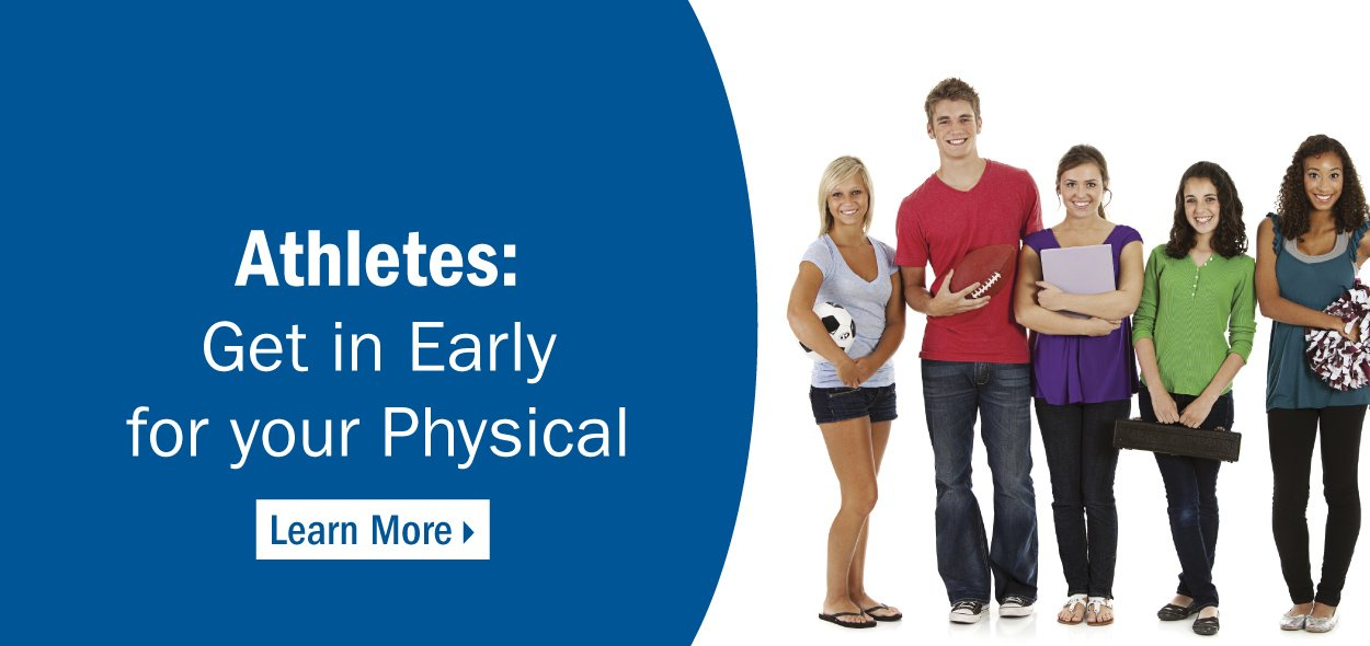 Athletes, get in early for your sports physical