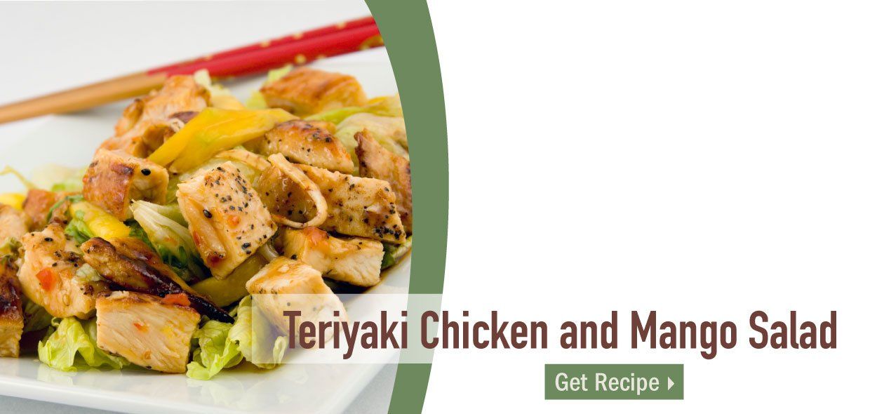 Get the recipe for Teriyaki Chicken and Mango Salad