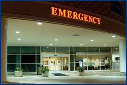 Emergency entrance at Pella Regional