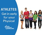 Athletes, Get your school physical!