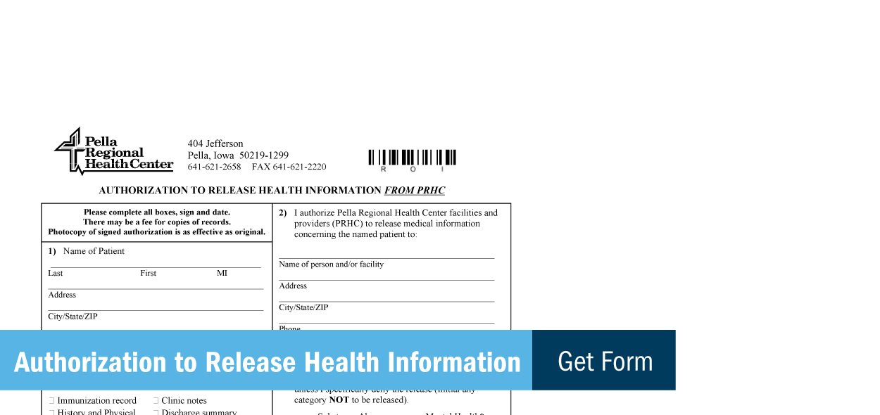 View the authorization to release health information form