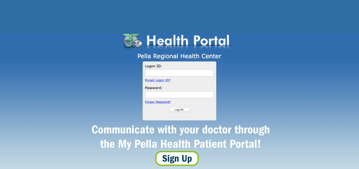 Communicate with your doctor through the My Pella Health Patient Portal!